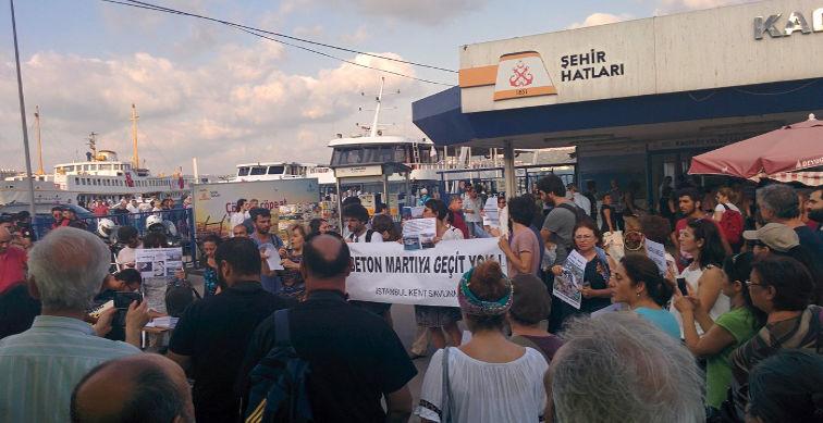 İstanbul Kent Savunması Kabataş İskelesi'nin kapatılmasına izin vermiyor