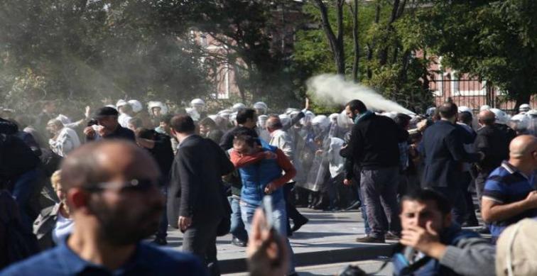 10 Ekim'in yıldönümünde katil iş başında: Anmaya polis saldırısı