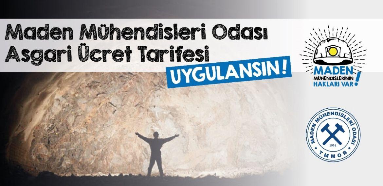 """Maden mühendislerinden imza kampanyası: """"Asgari ücret tarifesi uygulansın!"""""""