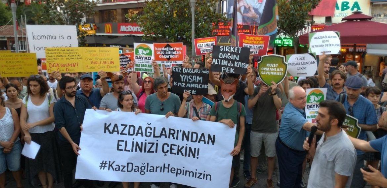 Kazdağları isyanı İstanbul'da: 'Alamos Gold Kazdağları'ndan defol'