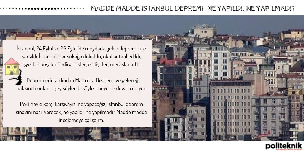 Madde madde İstanbul depremi