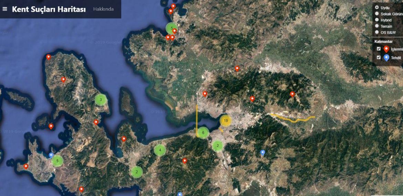 İzmir Kent Suçları Haritası yayımlandı