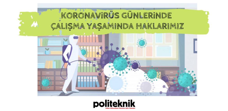 Koronavirüs günlerinde haklarımız broşürü yayında