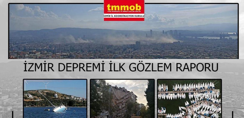 Mühendislerden İzmir Depremi gözlem raporu