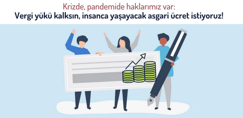 Vergi yükü kalksın, insanca yaşayacak asgari ücret istiyoruz! – Politeknik