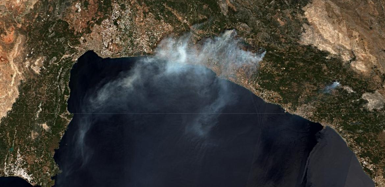 Uydu görüntüleriyle orman yangınlarının tahribatı